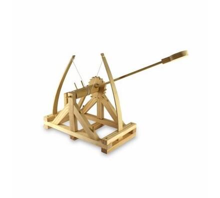 Model katapultu Leonarda da Vinci, hnědá