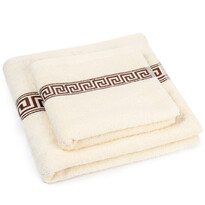 """Zestaw ręczników """"Greek"""" kremowy, 50 x 100cm, 70 x 140cm"""
