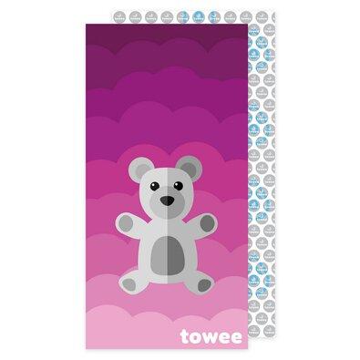 Towee Rýchloschnúca osuška Teddy Bear ružová, 70 x 140 cm