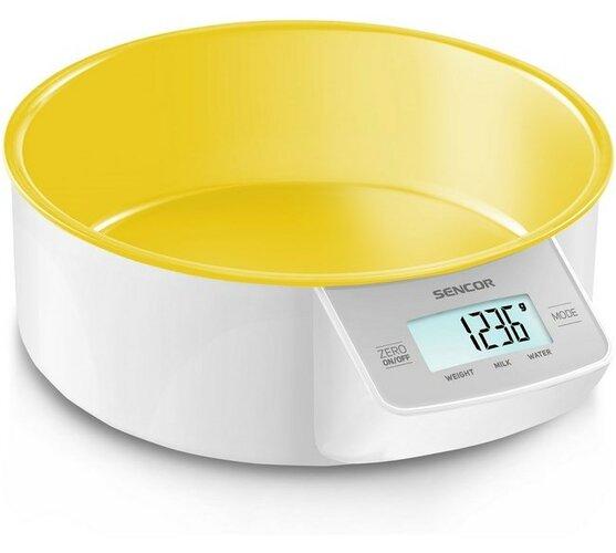 Sencor Digitális konyhai mérleg sárga