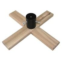Dřevěný stojan na stromek Woodie tmavě hnědá, 50 x 50 cm
