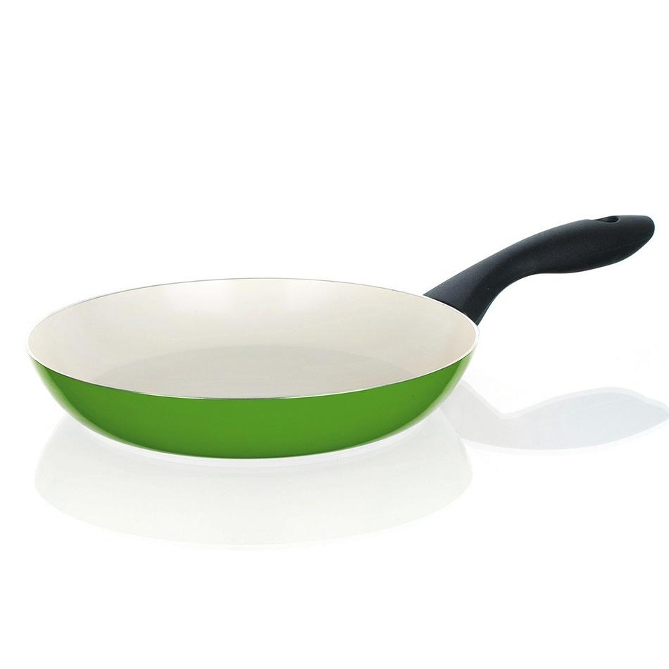 BANQUET Panvica 20 cm zelená so špirálovým dňom Natura Ceramia Verde, 20 cm