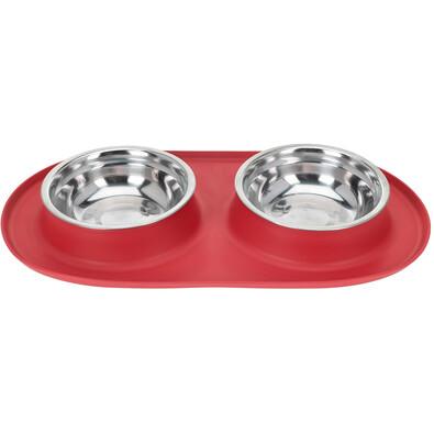 Bowl dupla etetőtál kutyáknak, piros