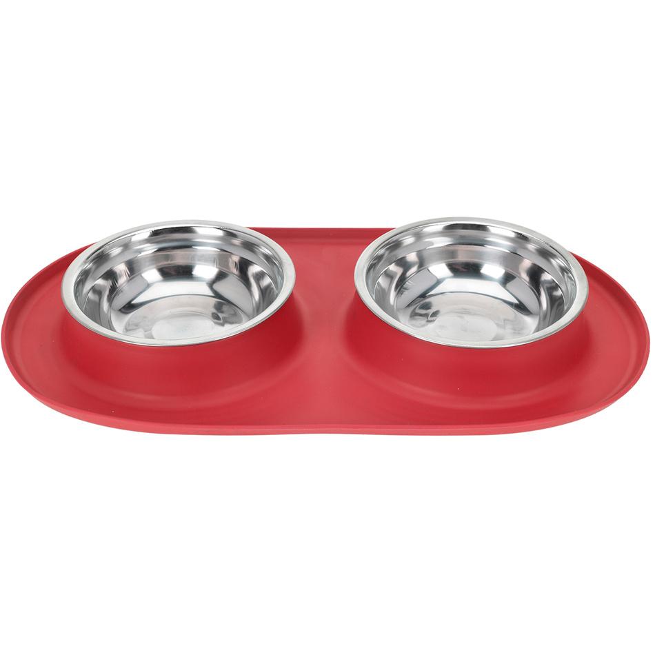 Dvojitá miska pro psa Bowl, červená