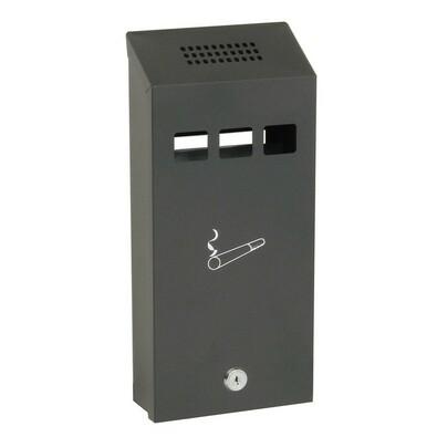Závěsný ocelový popelník, matná černá