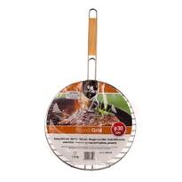 Happy Green Okrągły ruszt do grilla BBQ, 30 cm
