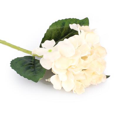 Umělá květina hortenzie bílá