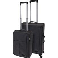 Sada textilních kufrů na kolečkách 2 ks, tmavě šedá