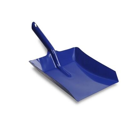 Lopatka na smetí, kovová, modrá