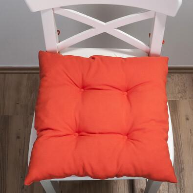 Sedák Uni, oranžová, 38 x 38 cm, sada 2 ks