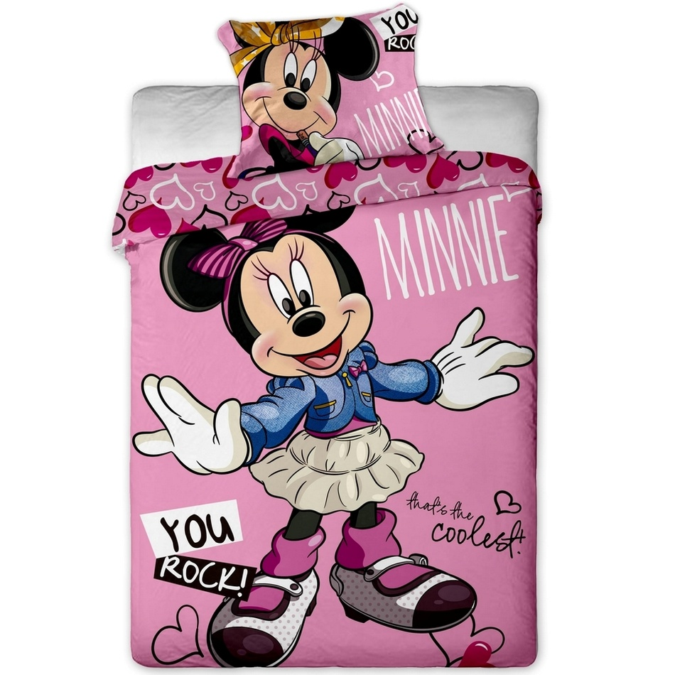 Jerry Fabrics Povlečení Minnie cool bavlna 140x200 70x90