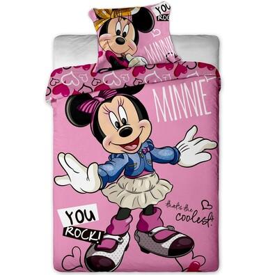 Dětské bavlněné povlečení Minnie cool, 140 x 200 cm, 70 x 90 cm