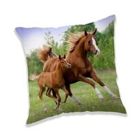 Jerry Fabrics Horse brown párna, 40 x 40 cm