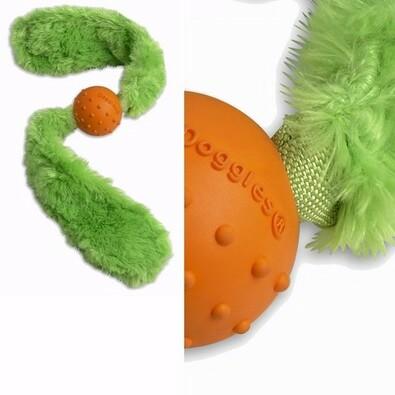 Přetahovací hračka pro psy - ocásek REBEL DOG, zelená
