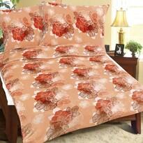 Bellatex Obliečky mikroflanel Oranžový kvet, 140 x 220 cm, 70 x 90 cm