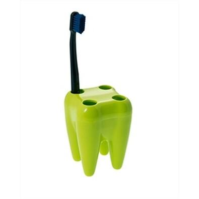 Držák kartáčků zub, zelený
