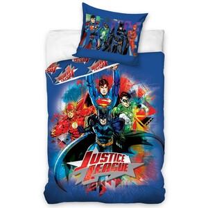 Dětské bavlněné povlečení Justice League, 140 x 200 cm, 70 x 80 cm