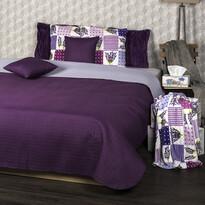 4Home Prehoz na posteľ Doubleface fialová/svetlofialová, 220 x 240 cm, 2x 40 x 40 cm