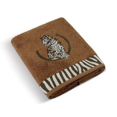 Ručník Leopard hnědá, 50 x 100 cm