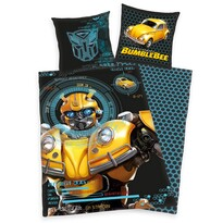 Dziecięca pościel bawełniana Transformers Blumblebee, 135 x 200 cm, 80 x 80 cm
