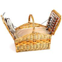 Kosz piknikowy dla 4 osób Elba, 46 x 29 (41) x 31 cm