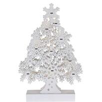 Fából készült karácsonyfa Cardolo fehér, 10 LED