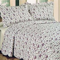 Narzuta na łóżko Flowers, 230 x 250 cm, 2x 50 x 70 cm