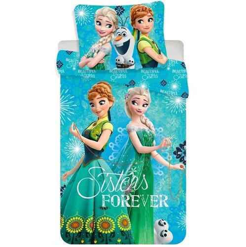 Jerry Fabrics Dětské bavlněné povlečení Ledové království sisters forever, 140 x 200 cm, 70 x 90 cm