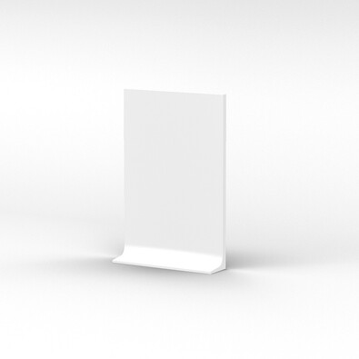 Zahnuté lopárik Curve 23 x 35 cm, biele