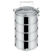 Orion élelmiszer-hordozó 4 x 1,3 l, rozsdamentes acél