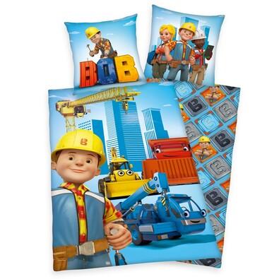 Dětské bavlněné povlečení Bořek stavitel, 140 x 200 cm, 70 x 90 cm