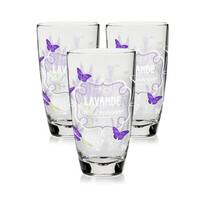 Cerve 3-dielna sada pohárov Lavande, 370 ml