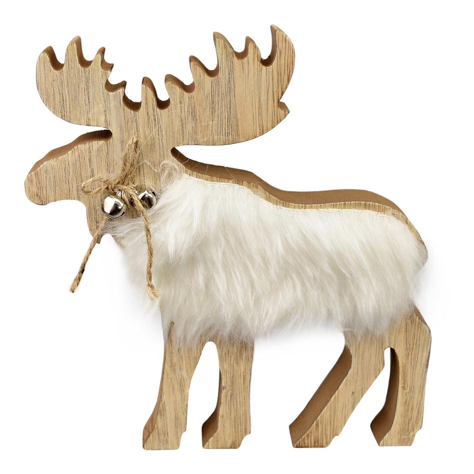 Vánoční dřevěný Sob Matyáš, 21 cm