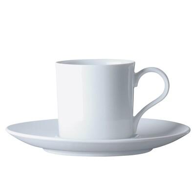 Šálek na kávu s podšálkem Classic 150 ml, bílý