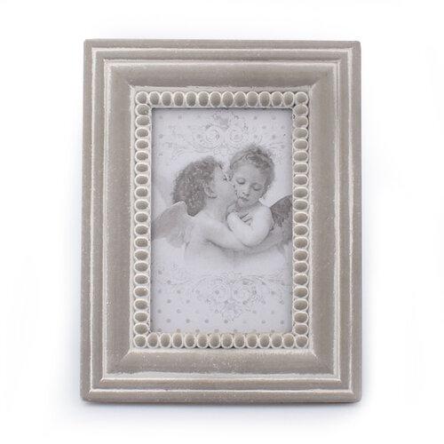 Drevený fotorámček Cupido, sivá, Dakls