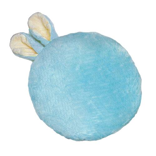 Domarex Polštářek Soft Bunny plus modrá, průměr 35 cm