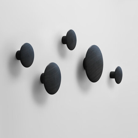 Věšák The Dots velký 17 cm, černý