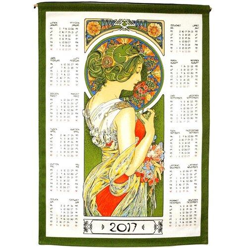 Textilní kalendář 2017 Alfons Mucha, 45 x 65 cm