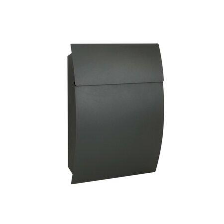 Poštovní ocelová schránka Luxury, antracitová