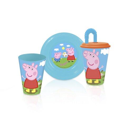Műanyag gyerek pohár szívószállal  Peppa Pig 430 ml