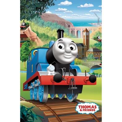 Thomas a gőzmozdony  pléd, 100 x 150 cm