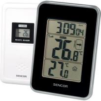 Sencor SWS 25 BS Termometru interior-exterior cu senzor, negru