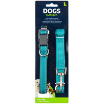 Dogs Obojek pro psa s vodítkem vel. small, tyrkysová