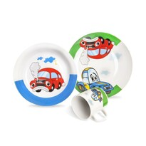 Orion 3-częściowy zestaw stołowy dla dzieci Auto