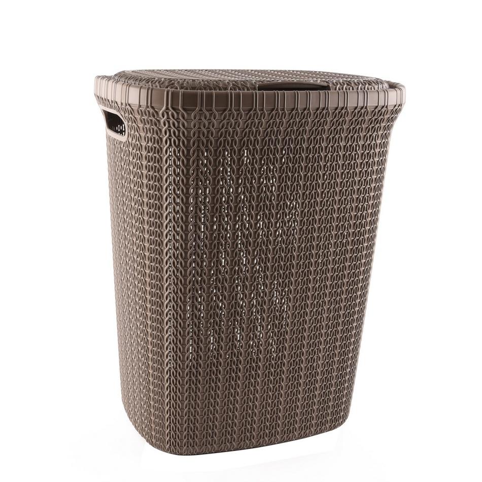 Orion Plastový koš na špinavé prádlo Knit Hobby 55 l