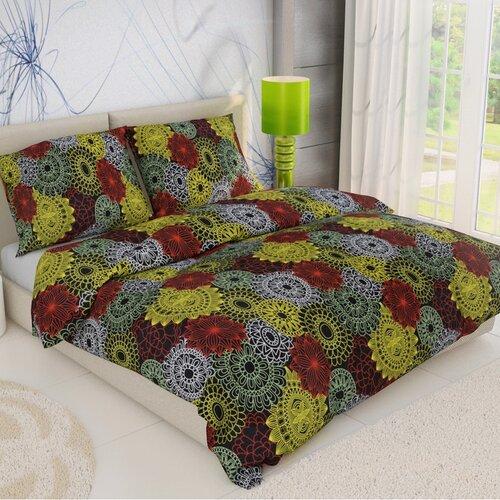 Bavlnené obliečky Kruhy mix, 140 x 220 cm, 70 x 90 cm