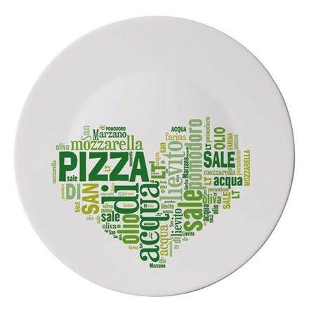 Bormioli Talíř I LOVE PIZZA na pizzu zelený 33 cm