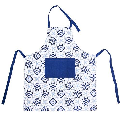 Kuchyňská zástěra Blue Shapes, 86 x 71 cm
