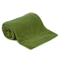 Pătură fleece UNI verde, 150 x 200 cm