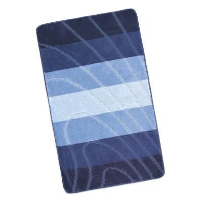 Koupelnová předložka Elli Vlna modrá, 60 x 100 cm